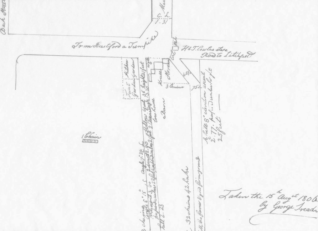 1806 Survey of Intersection of Routes 4 & 10 - Farmington Historical Society Facebook Page