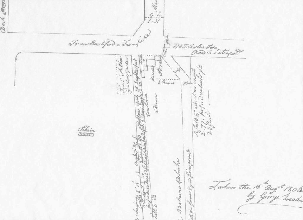 1806 Survey of Intersection of Routes 4 & 10 - Farmington Historical Society Facebook Page